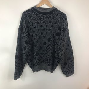 VINTAGE | Black & Gray Ugly Sweater